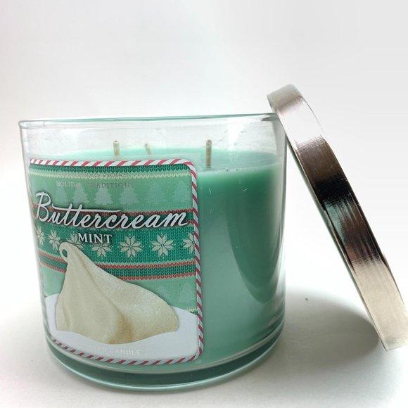 Bath & Body Works Buttercream Mint 3 Wick Candle